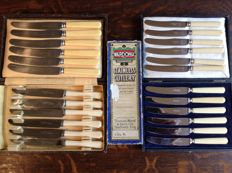 24 Table-entree-dessert knives in excellent condition