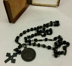 Antique 1908 rosary - 50th anniversary of Pope Pius X  priesthood (1858-1908) - Italy