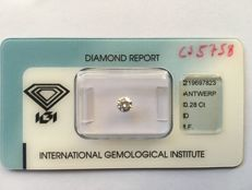 0.28 ct brilliant cut diamond D IF