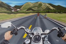 Harley Davidson on Route 66 - canvas 120x80cm
