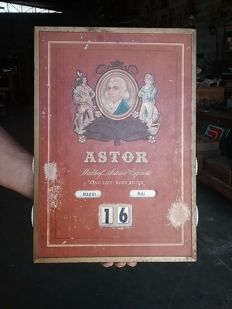ASTOR CIGARETTES advertising perpetual calendar