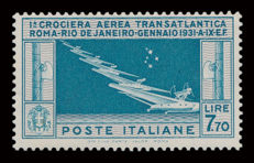 Kingdom of Italy, Air Mail, 1930, Balbo Cruise L. 7.70