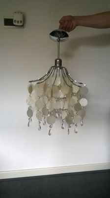 Hanging lamp Eglo Fedra Pearl Pendants in very good condition.