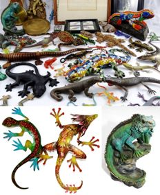 Large collection of lizards and amphibians