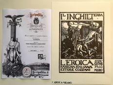 "Frank Brangwyn (1867-1956)  Original woodcut ""L'Inghilterra"" special edition of the collection Ettore Cozzani L'Eroica with COA"
