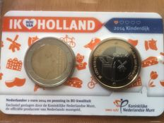 "The Netherlands - 2 Euros 2014, 2015 and 2016, ""Ik hou van Holland"" (I love Holland), in coin card."