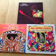 """Jimi Hendrix - lot of 3 Albums - """" Axis : Bold as Love """" / """" Are you  Experienced ? """" / """" Band of Gypsys """""""