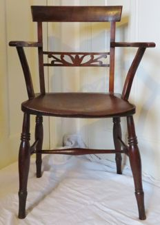 Oak office chair with saddle seat - Netherlands - ca. 1800