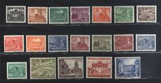Germany, Berlin - Monuments - Michel catalogue nos. 42/60
