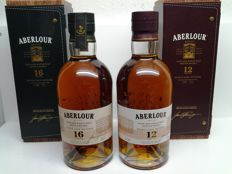 2 Bottles Aberlour 12 years Old & 16 years Old - Limited Edition -