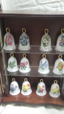 Collection of 12 porcelain bells.