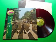 The Beatles- Abbey Road  RED WAX AP-8815.  1st Japanese pressing, 1969 With  Black Innersleeve, Insert  AND OBI!!!