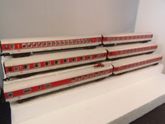 Fleischmann N -  8181, 8182, 8184, 8185 -  6 IC carriages of the DB