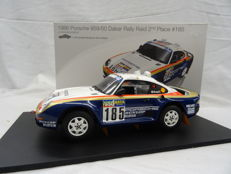 True Scale Miniatures - Scale 1/18 - Porsche 959/50 Dakar Rally Raid #185 2nd Place 1986 Jacky Ickx