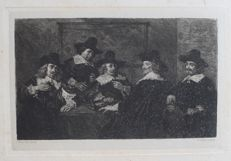 Five etchings by William Unger (1837 - 1932), after Frans Hals