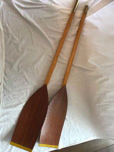 beautiful old decorative paddles / oars