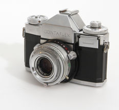 Contaflex IV from 1957 by Zeiss Ikon with interchangeable front lens