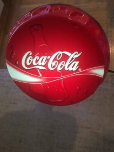 Shining lamp Coca Cola / bottle opener / quick cap.- cirka 2014y. Coca Cola ad . Original CC .