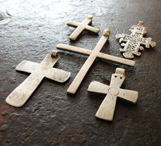 Mini collection of Coptic silver crosses - Ethiopia - 19th century