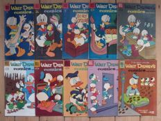 Walt Disney's Comics and Stories - 10 issues - sc - first print (1957/1961)