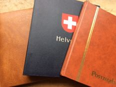 Switzerland - Collection in Davo album and Two Stock Books