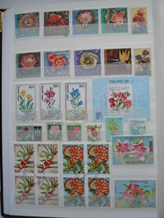 Thematic Stamps – Flowers, Fruits, Mushrooms 2,200 stamps and 10 blocks (World).