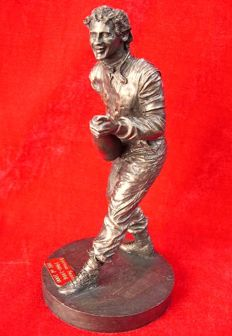 Bronze sculpture of Ayrton Senna