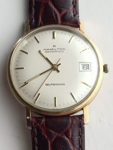 Hamilton Masterpiece, men's watch, 1970s, gold-plated case, automatic.