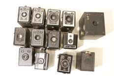 Box cameras of various brands