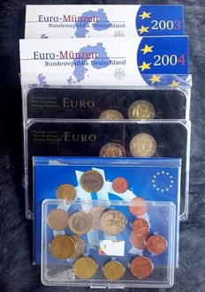 Europe - Year collections Euro coins 2003/2013 (6 different)