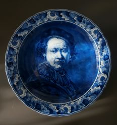 Porceleyne Fles - Wall plate after  Rembrandt 1985