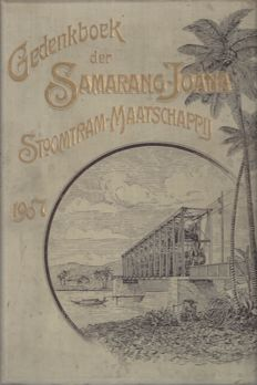 Lot with 2 commemorative books about the railways in the Dutch Indies and java at the beginning of the previous century - 1907/1925