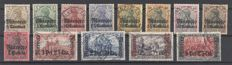Deutsche Post Morocco 1905 - Michel 21-33 postage stamps - partly verified