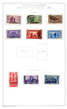 Kingdom of Italy, 1931 to 1944 – Lot of stamps.