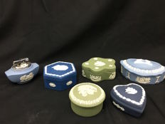lot of 5 boxes and a lighter in Wedgwood ceramic