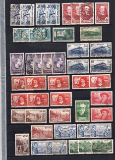 France 1937/38 - Market stock valued by multiple - between Yvert No 334-403
