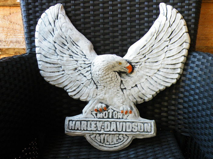 Beautiful Harley - Davidson Concrete Wall plate