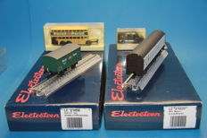 Electrotren H0-LC 21020/21050 - 2 freight cars with Wiking model car