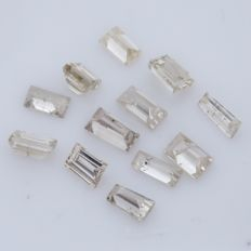 12 Straight and Tapered Baguette Diamonds – 0.50 ct. - *** NO RESERVE ***