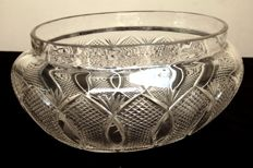Baccarat Crystal  Centre table planter in cut crystal, model Nonancourt, France, 1880-1890