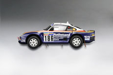 True Scale Models - Scale 1/18 - Porsche 959/50 1986 Dakar Rally Raid Winner #186