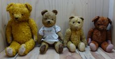 Collection of 4 teddy bears