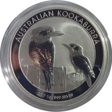 1 oz - 1 Australia Dollar with the Kookaburra from 2017