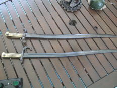 2 large french Sword bayonets