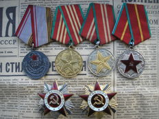 Two awards of Patriotic war 1 both 2 degrees and Veteran of Soviet Red Army.
