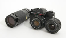 Fuji STX-2 with Fujinon 50 mm. lens + Tokina 28 mm. lens + Sigma zoom lens 80 - 200 mm. from 1985