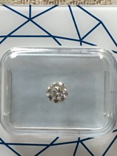 Diamond, round cut, colour G, clarity SI2, 0.42 ct