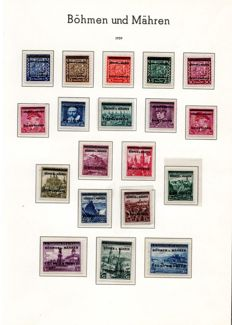 Bohemia and Mähren 1939 -1945 – advanced collection on album pages and stock book with Michel 1 -19