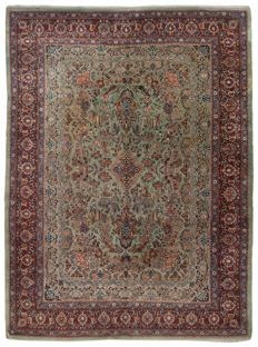 Original authentic Persian rug, Kashan, Iran. With certificate of authenticity from official expert, 365 x 275 cm (Galleria Farah 1970)