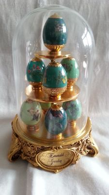 "House of fabergè - fabergè eggs, "" emerald garden "" four colors green, number 0014"